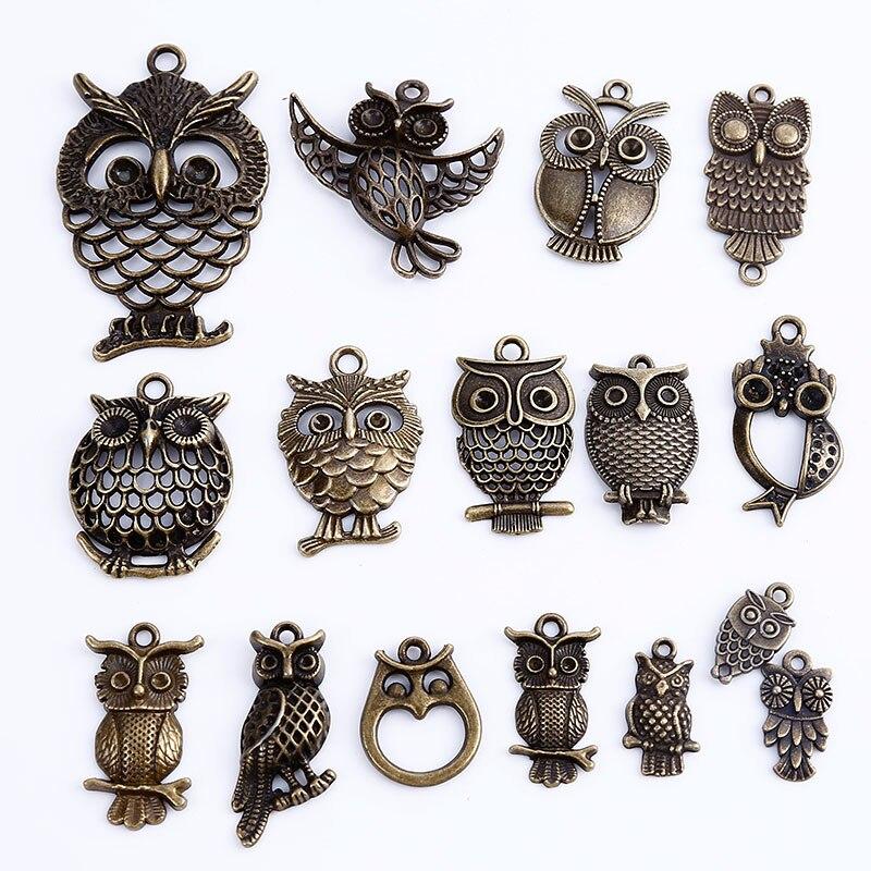 Vintage Wire Chain Jewelry Making Brass Chain Custom: Aliexpress.com : Buy Vintage Metal Owl Charms For Jewelry
