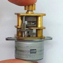 Прецизионный коэффициент уменьшения 150: 1 шаговый двигатель, металлический редуктор DC5-12V 40 Ом 18 ° мотор-редуктор для монитора, интеллектуальное управление