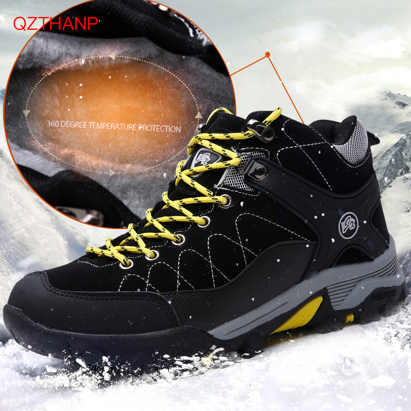 Men Boots Winter 2018 Warm Snow Boots Men Winter Boots Casual Sneakers Breathable Male Adult Shoes High Quality Chaussure Homme