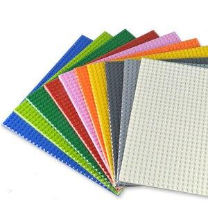 Image 5 - Dubbelzijdig 32*32 Dots Grondplaten Voor Kleine Bakstenen Diy Boom Bush Diy Bouwstenen Bodemplaat Compatibel klassieke Blokken Board