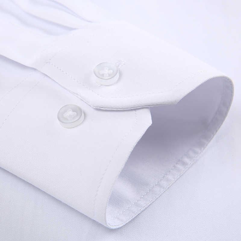 DAVYDAISY 2019 新着メンズシャツ長袖ツイル固体ストライプドレスビジネスシャツスリムフィット男ドレスシャツ DS258
