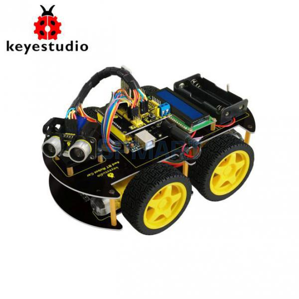 Keyestudio 4WD Bluetooth Multi-functional DIY Car For Arduino Robot Starter