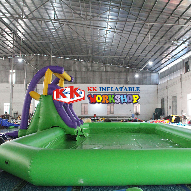 Backyard Commercial Inflatable Water Slide With Pool,Kids Mini Water Pool Park