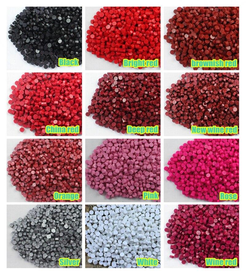 Cire à cacheter de couleur perles pour cachet de cire timbre 21 couleurs dans Timbres de Bureau et des Fournitures Scolaires