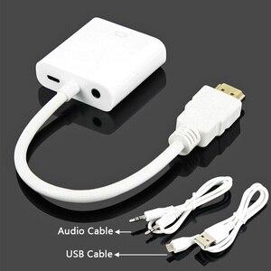 Image 4 - OULLX HDMI VGA kablosu için PC bilgisayar PS3 PS4 oyun oyuncu HDMI kablo desteği Full HD 1080P HDTV dönüştürücü