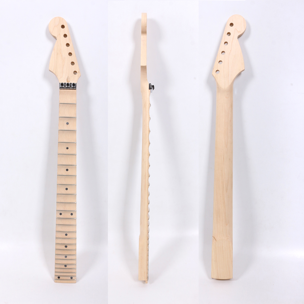 Diy St Style Electric guitar Neck locking Nut Canada Maple 24Fret 25.5inch Guitar Project UnfinishedDiy St Style Electric guitar Neck locking Nut Canada Maple 24Fret 25.5inch Guitar Project Unfinished