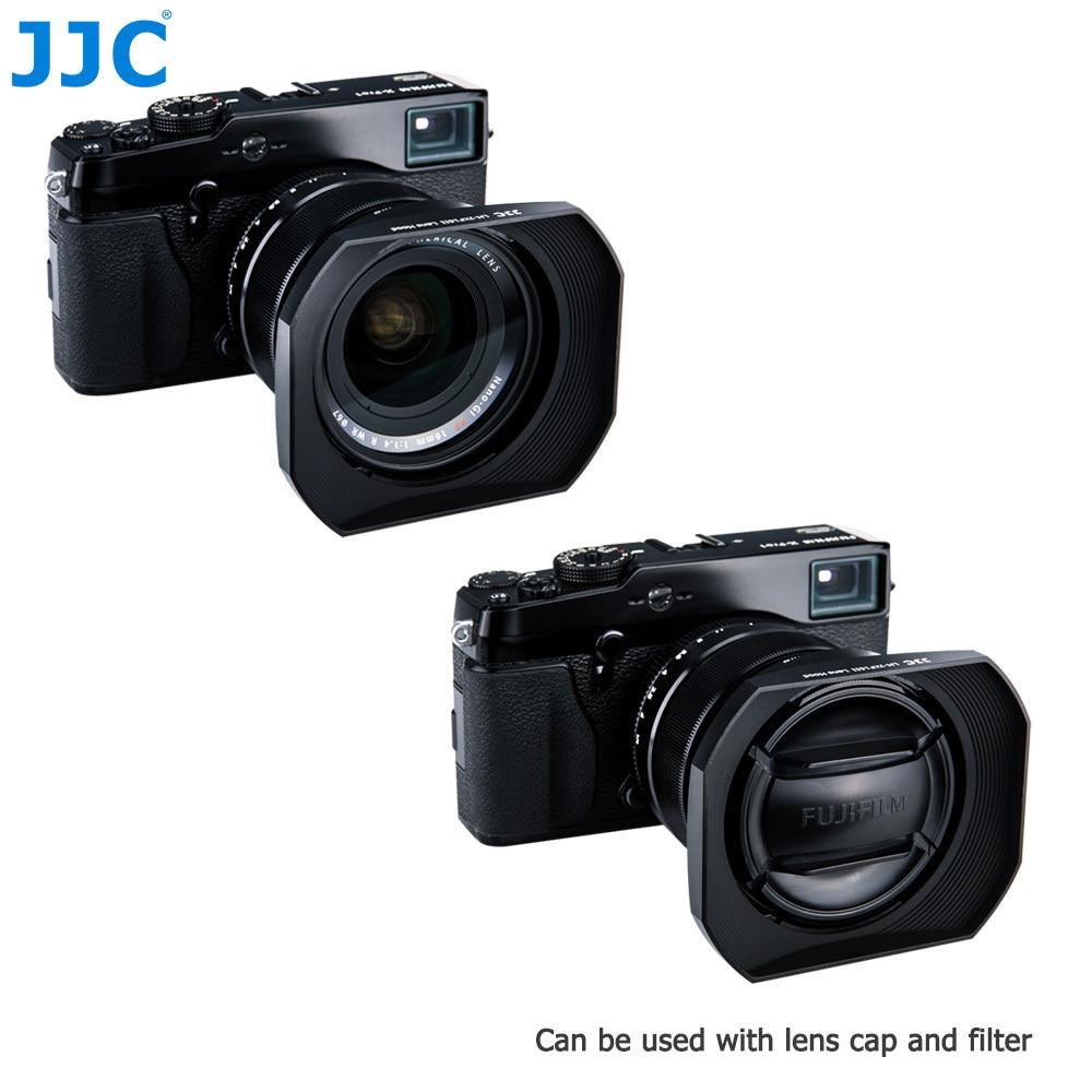 JJC LH-JXF16II Black Square Camera Lens Hood 67mm for FUJINON LENS XF16mm F1.4 R WR Replaces LH-XF16 jjc lh da09