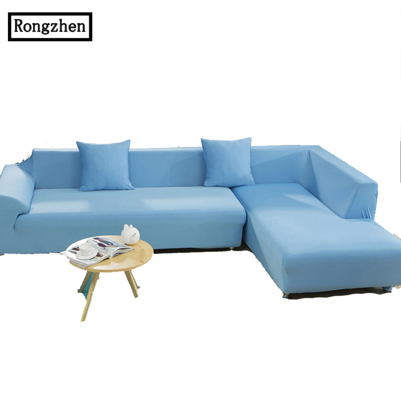 Solid polyester flexible universal sectional slipcover for Universal sectional sofa slipcovers