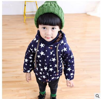 Бесплатная доставка 2016 новых детских толстые пальто детей одежды младенца куртка
