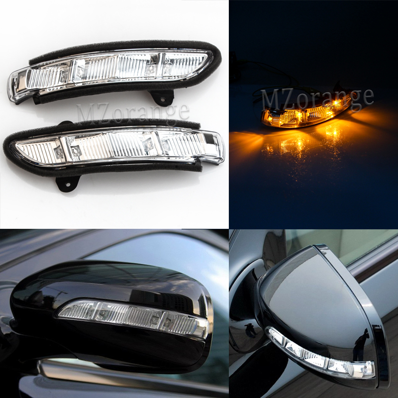 W211 W219 W216 Side Mirror Lights Led Turn Signal Lights Mirror Indicator For Mercedes-Benz 2004-2010 Rearview Mirror Lights