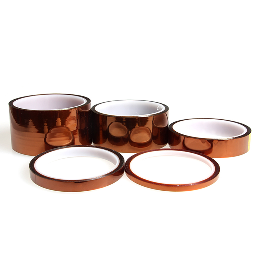 High Temperature Resistant tape Heat dedicated Tape Polyimide Adhesive Tape 4mm 7mm 10mm 12mm 20mm 25mm 35mmx100ft for 3d printe fuji 4mm cleaning tape for dds drives