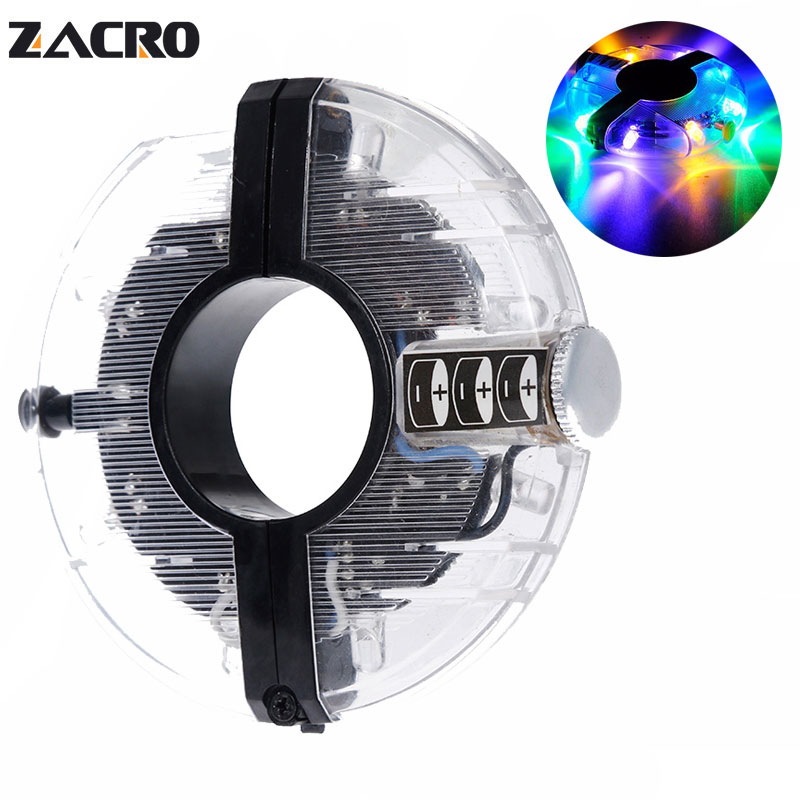 Zacro Bicycle Cycling Hubs Light Bike Front/Tail Light Led Spoke Wheel Warning Light Waterproof multiple colour Bike Accessories ...
