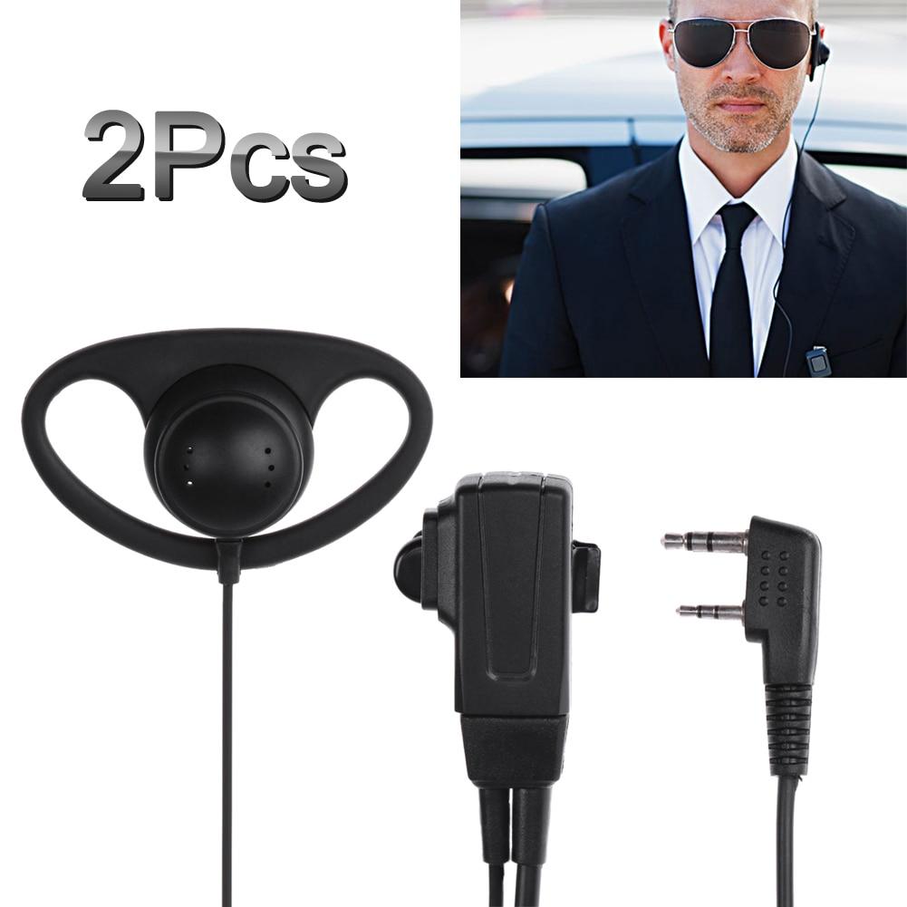 Türsprechstelle ZuverläSsig 2 Pin D-form Hörer Headset Mic Ptt Mic Hörer Kopfhörer Für Baofeng Kenwood Puxing Tyt Walkie-talkie Radio 100% Garantie
