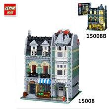 IN STOCK 2462Pcs free shipping Lepin 15008 15008B City Street Green Grocer Model Building Kits Blocks