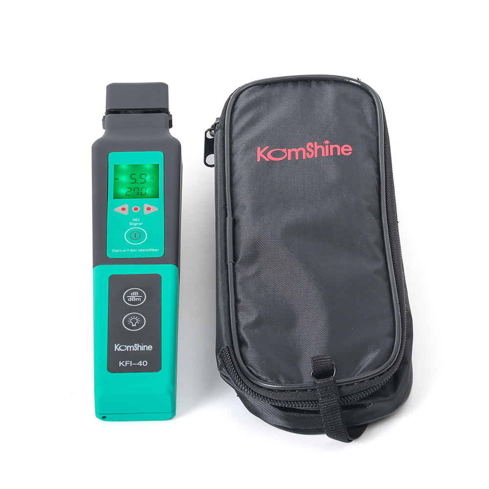 Multi Chuck Komshine KFI-40 FTTH Live Fiber Identifier Suitable For 800-1700nm SM MM Fiber Detector Cable Tester
