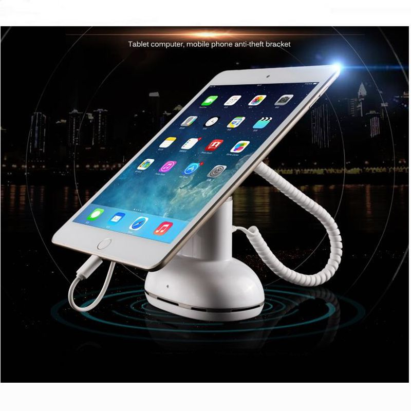 Flat Panel Anti-theft Device Android Ipad Display Shelf Mobile Phone Show&Charge Rack Alarm Bracket wholesale price mobile phone anti theft alarm display stand with charging for exhibition