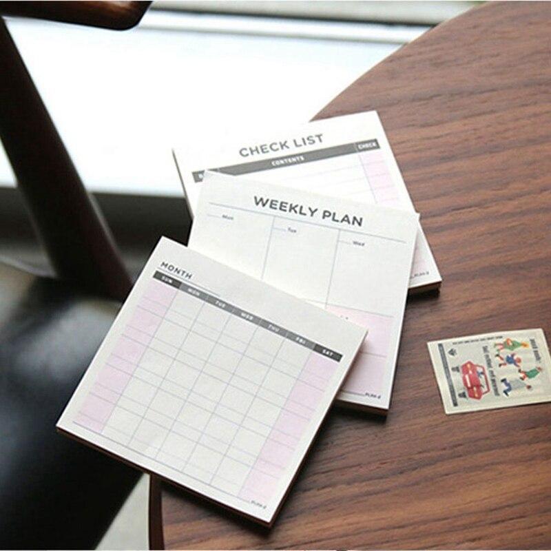 60 Sheets 9.4CM*9.4CM Grid Stripe Sticky Note Paper Note Cards Note Pads Office Paper Sticker Reminder Desktop Note Sticker