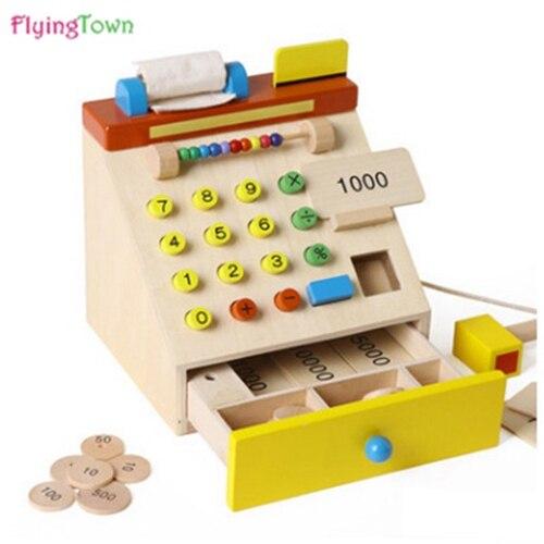 Crianças têm uma família de peças de quebra-cabeça do supermercado simulação caixa máquina de caxemira crianças presente de aniversário