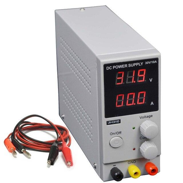 Импульсный источник питания LW3010 мини Регулируемый цифровой источник питания постоянного тока, 0 ~ 30 В 0 ~ 10A, 110 В-220 В США/ЕС/разъем АС, переключ...