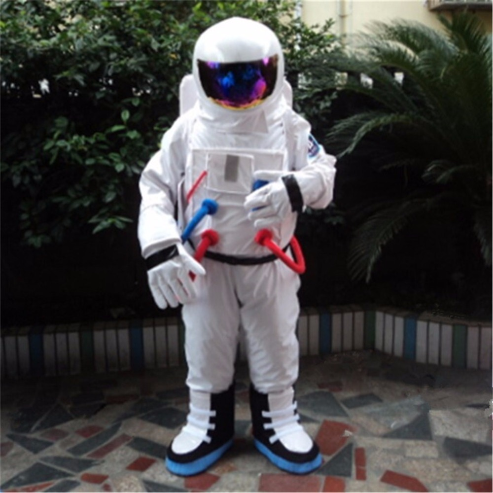 Spaceman Mascot Costume Astronaut Halloween Fancy Dress Party Adults Cosplay NEW