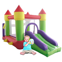 Inflatable Castle Have Inflatabel Slide Area To Play And Inflatable Pool Trampoline For Kids Bouncer House