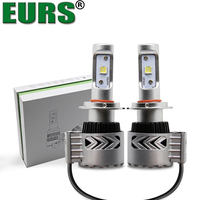 EURS(TM) 2PCS G8 XHP-50 Chip SMD H7 LED Auto Headlight 12000Lumen 72W High Bright Car Bulbs H4 H11 9004 9007 6000K