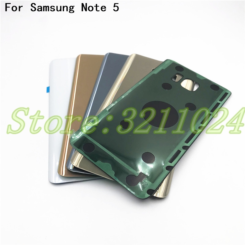 5.7 inches For Samsung Galaxy Note 5 N920 N920F Back Battery Cover Door Rear Glass Housing Case For Samsung Note 5 Battery Cover