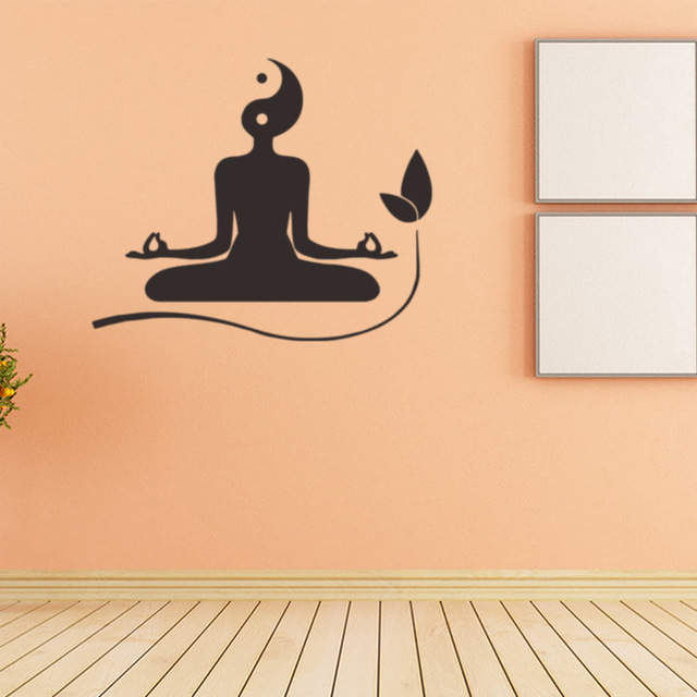 2685 Yoga Taiji map creative wall stickers living room TV background ...