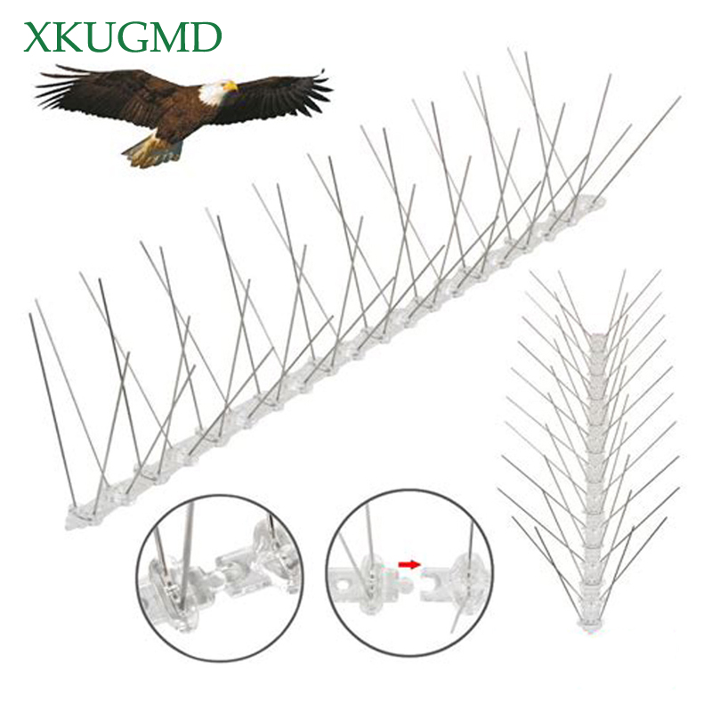 Hot 12PCS 6M Orchard Stainless Steel Bird-proof Needle Outdoor Installation Bird Repeller Villa Installed Away From Bird Device