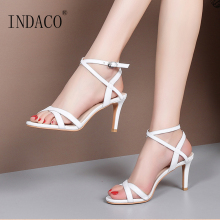 Sandals Women Summer Shoes Footwear Open Toe Ankle StrapThin Heel