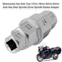 Motorräder Hex Achse Werkzeug 17mm 19mm 22mm 24mm Achse Hex Allen Spindel Fahrer Spindel Buchse Adapter