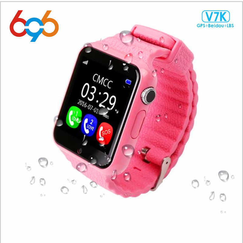 696 Children Security GPS Smart watch V7K 1.54'' Screen With Camera facebook SOS Call Location Devicer Tracker for IOS&Android
