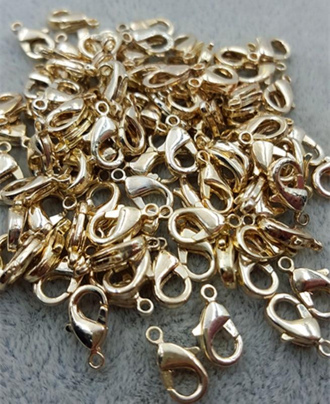 1000 pièces/sac 10*6mm or homard alliage métal fermoirs griffe fermoir connecteur pour les résultats de bijoux à bricoler soi-même - 3