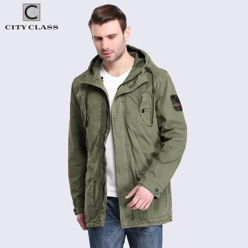 City class 2018 mens 100% cotton jackets and coats 캐주얼 루즈 워싱 윈드 브레이커 멀티 컬러 후드 드로우 스트링 3796-에서재킷부터 남성 의류 의  그룹 1