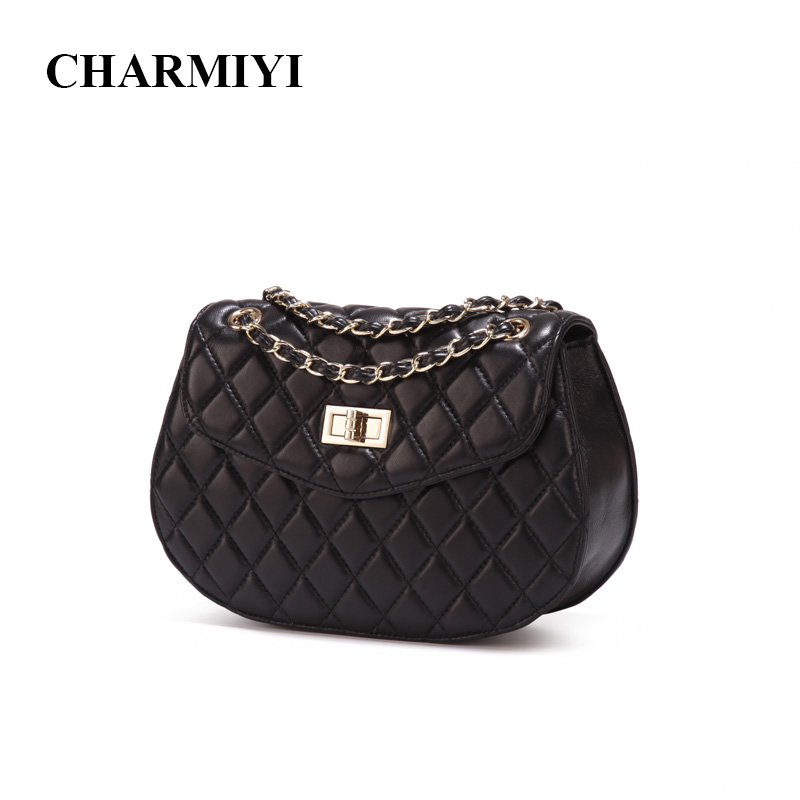 CHARMIYI luxury women genuine leather messenger bag small fashion chain Clutch handbags brand women high quality shoulder bags zooler genuine leather genuine real cowhide small handbags high quality brand women plaid shoulder bags chain tote crossbody bag