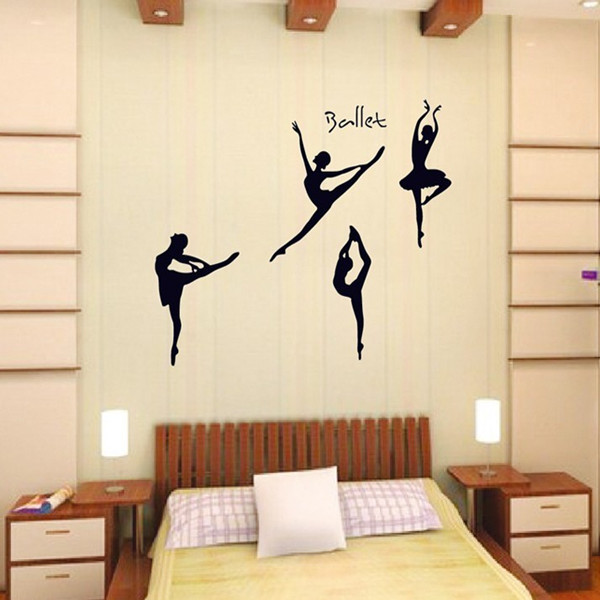 cm gran ballet ballet dancing music pose decoracin etiqueta de la pared del
