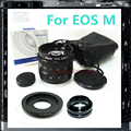 C Adaptador de Montaje + 50mm F1.8 CCTV TV Lente Para Canon EOS-M EOS M Mark II III EOSM2 EOSM3 M10 Cámara PA227