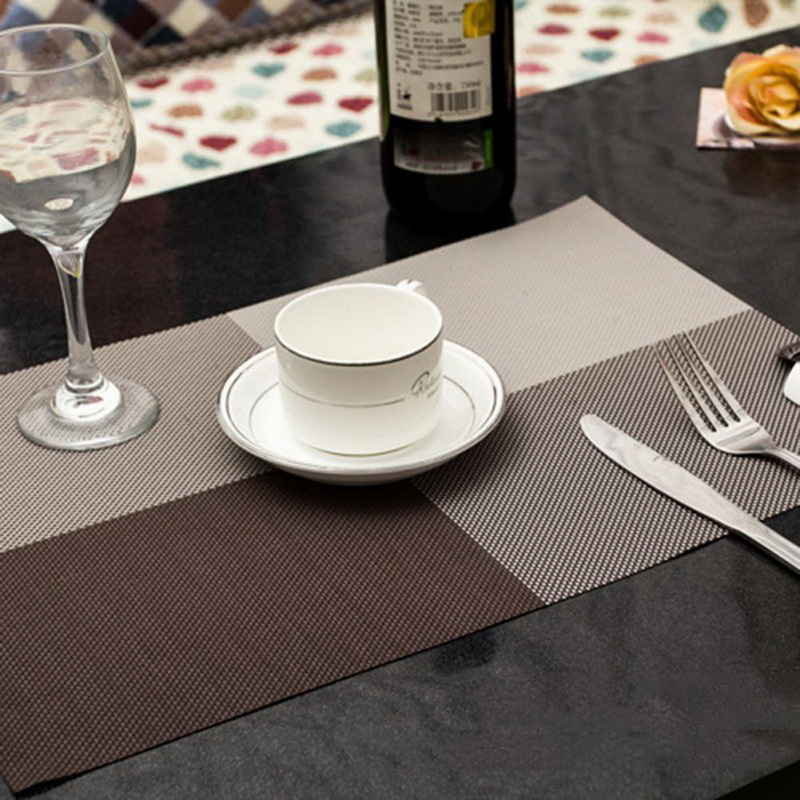 hot sale table mats kitchen table mats dinning waterproof placemat 7 colors decoration pvc table cloth. beautiful ideas. Home Design Ideas