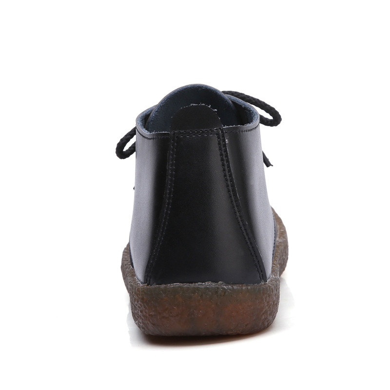 Style Cuir Nouveau 2018 Bottes blanc Qualité Noir Chaussures Coudre Martin En Cheville Vintage Dr Haute À Véritable De Mode O1Odwrq5x