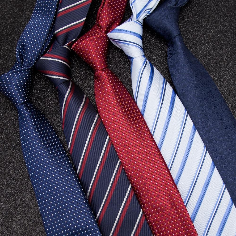 Men Tie Business Ties For Men Skinny Necktie Mens Fashion Wedding Shirt Accessories Jacquard BowTie Dress Corbatas Para Hombre