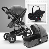 Baby Stroller 3 in 1 High Landscape bidirectional Baby buggy Pram Portable Folding strollers baby car Carriage Baby pushchair