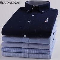 Dudalinas Shirts Men 100% Cotton Oxford Sergio K Men Dress Shirt Casual Long Sleeved Camisa Masculina Social Chemise Homme