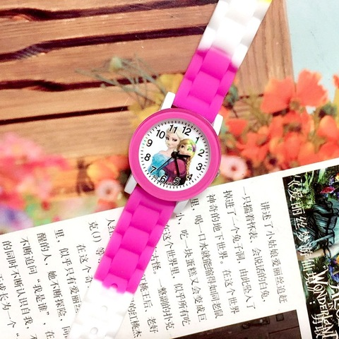 Children Watch Cartoon Princess Elsa Child Watches Candy Cute Color Anna Kids Clock For Girl Student Gift Wrist Watches Joven Lahore