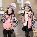 Children Clothes Winter Sweatshirts Girls Flower Sleeves Kids Number Tops Turtle Neck Top One Colors Patchwork Long Sleeve