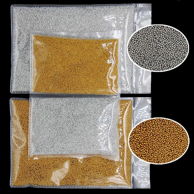 100g/pack 2pack/lot Mini Caviar Beads Gold Silver Caviar Round 3D Nail Art Metallic Ball Pro DIY 3D Decoration Manicure Tools
