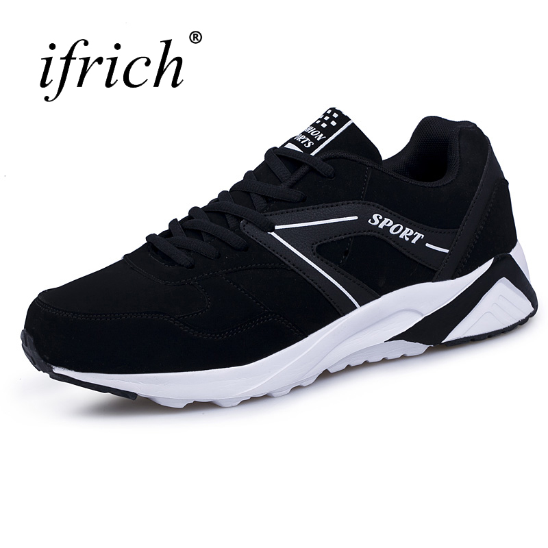 Ifrich New Arrival Men Brand Running Shoes Sport Sneakers White Black Male Designer Walking Shoes Lace Up Mens Althetic Trainers