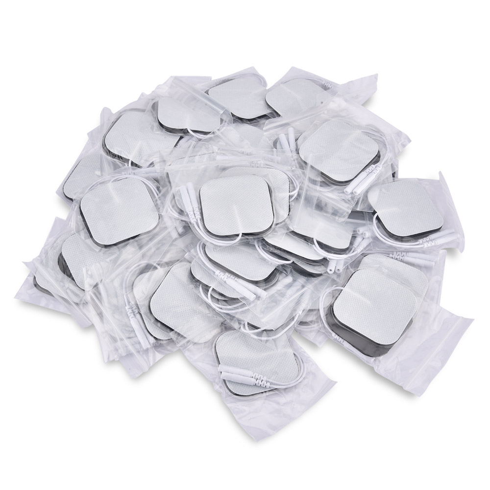 5*5cm 100pcs Nerve Stimulator Electrode Pads EMS Tens Electrode Acupuncture Muscle Stimulator Massager Pads 2mm Plug leravan mi home snap on electrode pads 2pcs