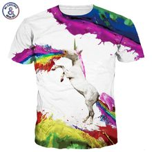 2017 Mr.1991INC New Stylish Men/ladies 3d T-shirts Print Rainbow Flying Horse Spray Paint Quick Dry Tshirts Summer Tops Tees