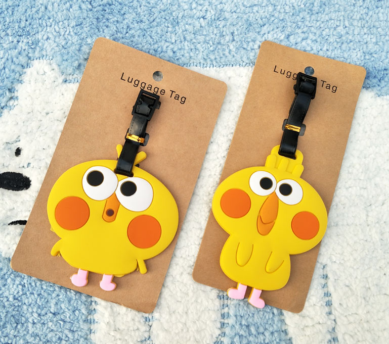IVYYE Poinko Parrot Anime Travel Accessories Luggage Tag Suitcase ID Address Portable Tags Holder Baggage Labels New
