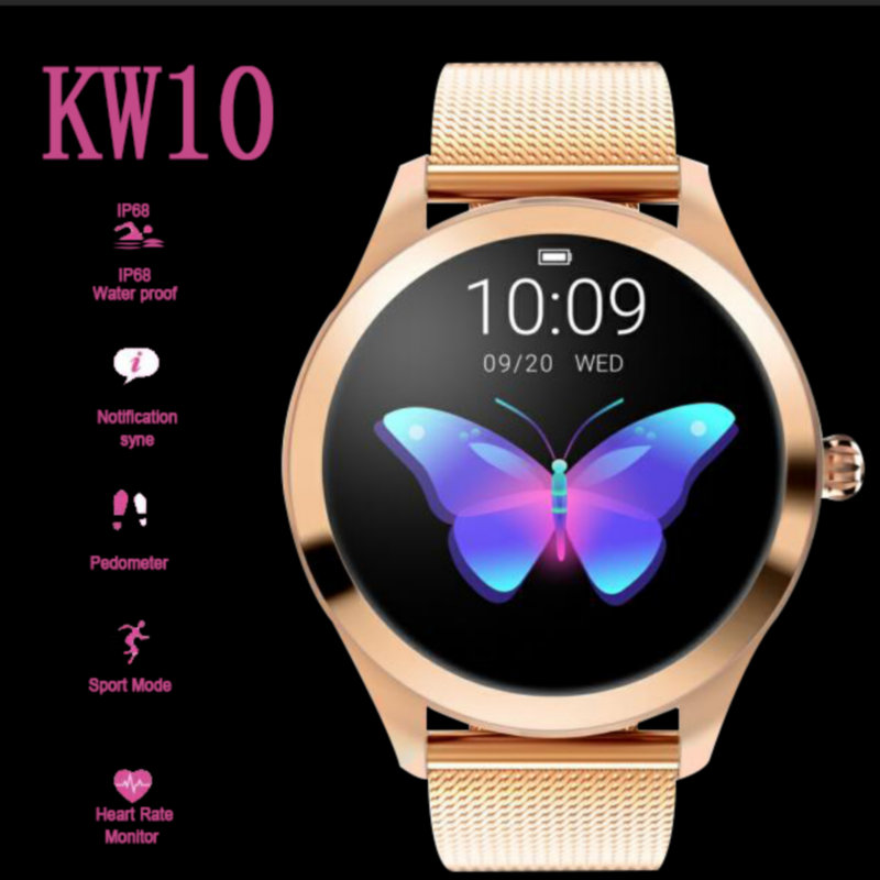 KW10 Smart Watch Women 2019 IP68 Waterproof Heart Rate Monitoring Bluetooth For Android IOS Fitness Bracelet Smartwatch RelojesKW10 Smart Watch Women 2019 IP68 Waterproof Heart Rate Monitoring Bluetooth For Android IOS Fitness Bracelet Smartwatch Relojes